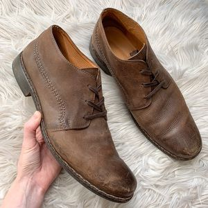 John Varvatos Brown Leather Ankle Boot Dress Shoes